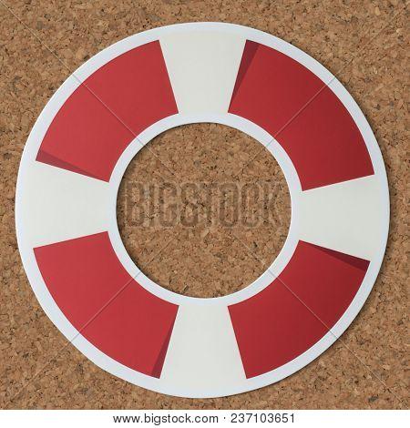 Ring buoy life saver icon