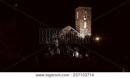 Church Of Barruera Example Of Romanesque Art, In The Catalan Pyrenees. Valley Of Bohí In Catalonia,