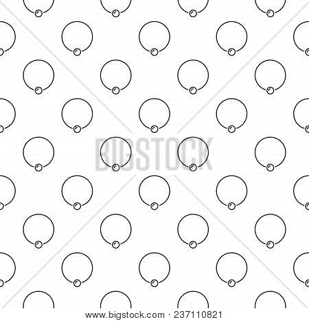 Body piercing jewelry vector background or seamless pattern made of captive ring outline icons poster