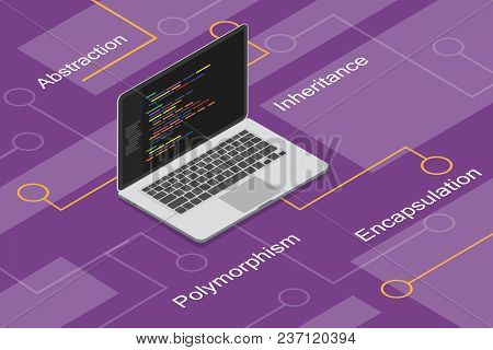 Object Oriented Programming With Polymorphism, Encapsulation, Abstraction, And Inheritance Vector