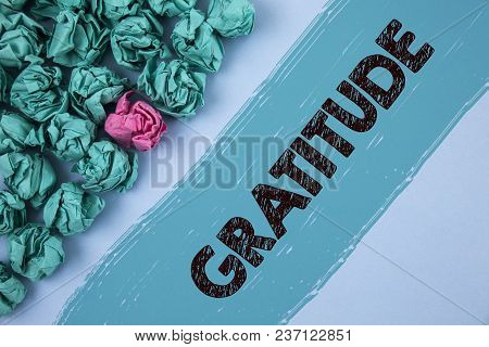 Writing Note Showing  Gratitude. Business Photo Showcasing Quality Of Being Thankful Appreciation Th