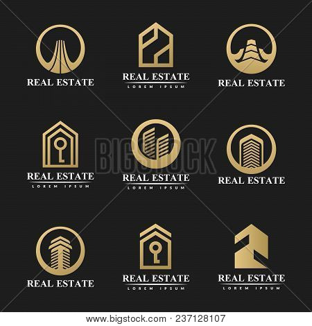 Real Estate Icon Set. Real Estate Logo. House Icon. House Logo. Property Logo. Home Icon. Hotel Logo