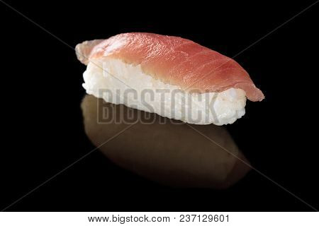 Traditional Japanese Cuisine. Fresh Made Sushi With Tuna