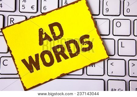 Text Sign Showing Ad Words. Conceptual Photo Advertising A Business Over First Of Internet Search Re