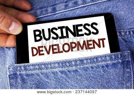 Conceptual Hand Writing Showing Business Development. Business Photo Text Develop And Implement Orga
