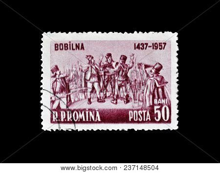 Romania - Circa 1957 : Cancelled Postage Stamp Printed By Romania, That Promotes 520th Anniversary O