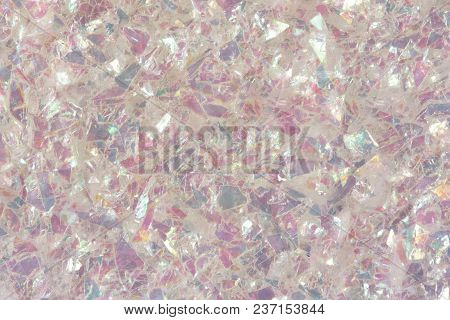 Abstract Shiny Pink Glitter Texture. Low Contrast Photo.