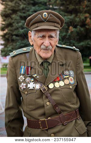 Rivne, Ukraine - October 14, 2012. Veteran Of The Ukrainian Insurgent Army. Upa