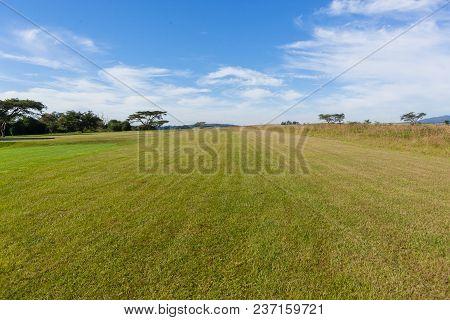 Aircraft Grass Airstrip Runway Countryside