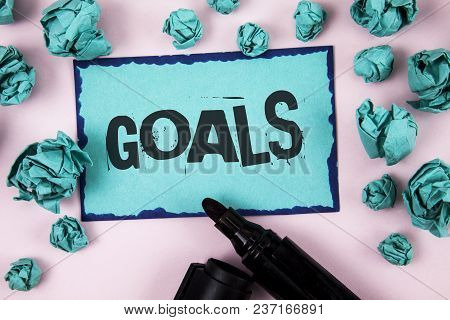 Word Writing Text Goals. Business Concept For Desired Achievements Targets What You Want To Accompli