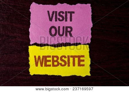 Writing Note Showing  Visit Our Website. Business Photo Showcasing Invitation Watch Web Page Link To