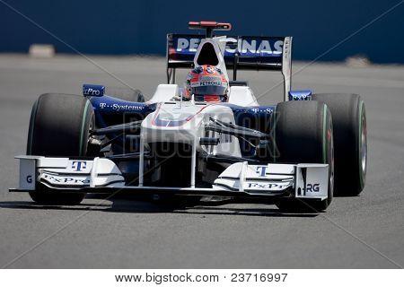 VALENCIA, SPAIN - AUGUST 22: Formula 1 Grand Prix of Europe in Valencia Street Circuit - Robert Kubica August 22, 2009 in Valencia, Spain