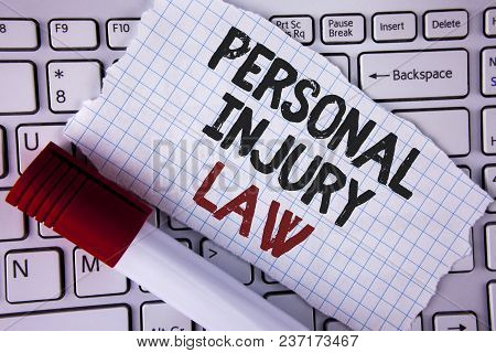 Conceptual Hand Writing Showing Personal Injury Law. Business Photo Text Guarantee Your Rights In Ca