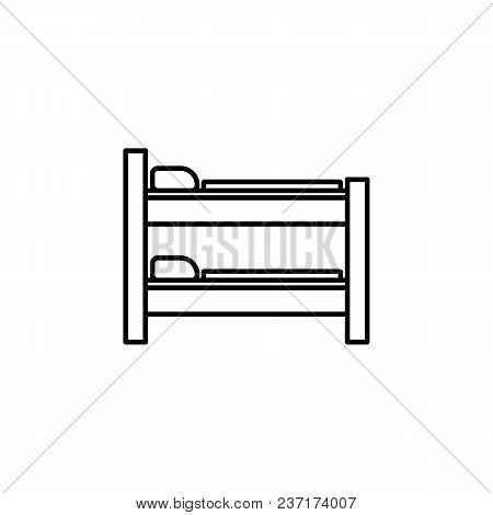 Two-story Bed Icon. Element Of Furniture For Mobile Concept And Web Apps. Thin Line  Icon For Websit