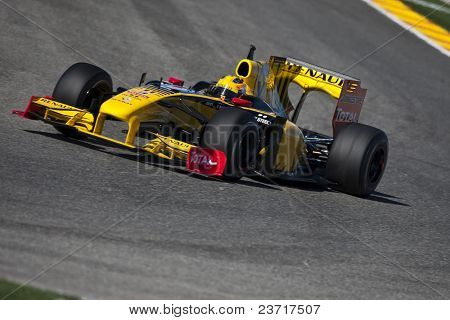 VALENCIA, SPAIN - FEBRUARY 1: F1 Test - Robert Kubica - on February 1, 2010 in Cheste, Valencia, Spain