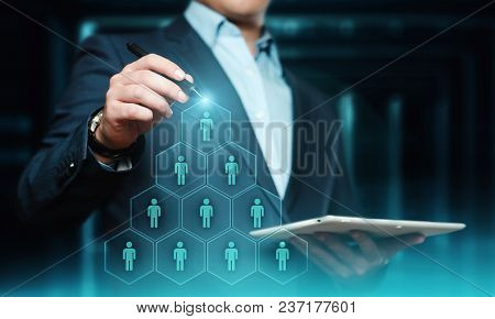 Human Resources Hr Management Recruitment Employment Headhunting Concept.