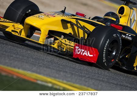 VALENCIA, SPAIN - FEBRUARY 1: F1 Test - Kubica on February 1, 2010 in Cheste, Valencia, Spain
