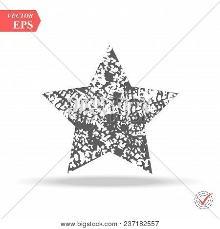 Grunge Star Background.vector Grunge Star.grunge Star Symbol. Eps