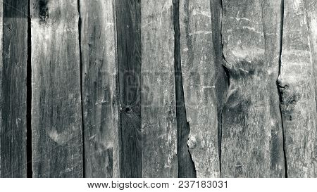 Wooden Texture, Old Black And White Wooden Boards, Old Wood Monochrome Background