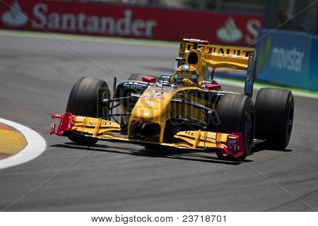 VALENCIA, SPAIN - JUNE 26: Formula 1 Valencia Street Circuit - Kubica - June 26, 2010 in Valencia, Spain