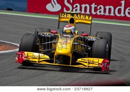 VALENCIA, SPAIN - JUNE 27: Formula 1 Valencia Street Circuit - Kubica - June 27, 2010 in Valencia, Spain