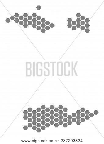 Gray Hexagonal Usa Vector & Photo (Free Trial) | Bigstock