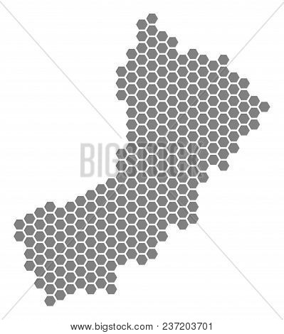 Gray Hexagon Yemen Map. Vector Geographic Map In Grey Color On A White Background. Vector Concept Of