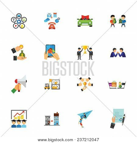 Business Development Icon Set. Can Be Used For Topics Like Marketing, Success, Management, Finance