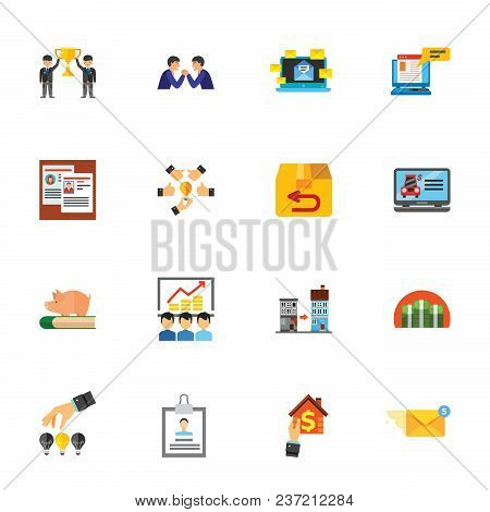 Job Icon Set. Can Be Used For Topics Like Business, Development, Correspondence, Management
