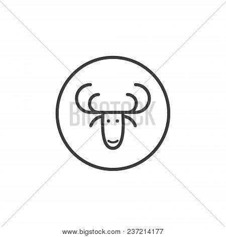 Black White Deer Icon Vector & Photo (Free Trial)   Bigstock