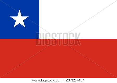 Official Large Flat Flag Of Chile Horizontal