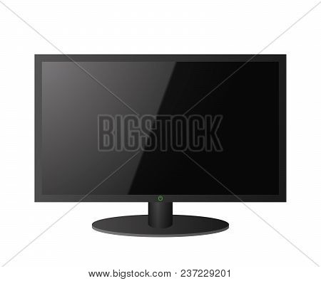 Modern Tv Screen. Lcd Technology. Vector Illustration