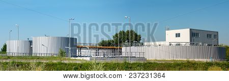 Sewage Treatment Plant For A Small Town Or Village