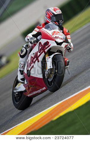 VALENCIA, SPAIN - NOVEMBER 7: Fonsi Nieto in motogp Grand Prix of the Comunitat Valenciana, Ricardo Tormo Circuit of Cheste on November 7, 2010 in Valencia, Spain