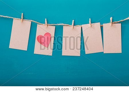 Hanging Label Tags With Heart Shaped Decoration