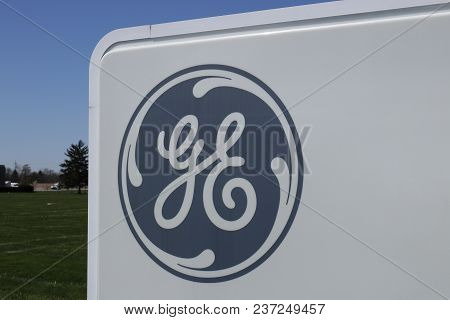 Vandalia - Circa April 2018: General Electric Aviation Facility. Ge Aviation Is A Provider Of Ge90 A