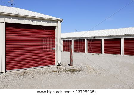 Numbered Self Storage And Mini Storage Garage Units Xii