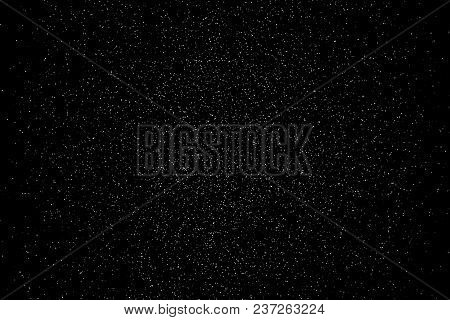 Falling Powder Glitter Confetti. Explosion On Black Background, 3d Illustration