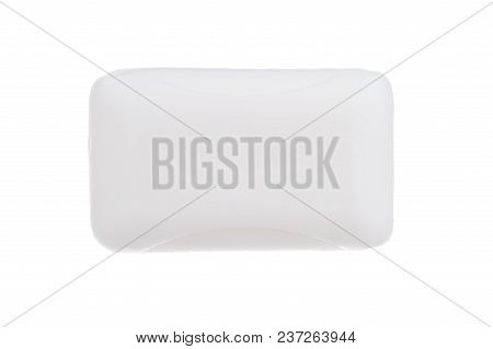 Top View Of Hygiene Toilet Soap Isolated On White Background