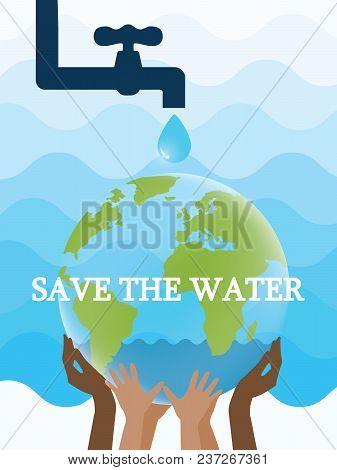 World Environment Day. Saving Water And World Environmental Protection Concept. World Water Day. Car