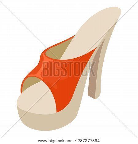 Heeled Sandal Icon. Isometric Illustration Of Heeled Sandal Vector Icon For Web