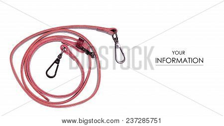 Red Belt To A Female Bag Pattern On A White Background Isolation