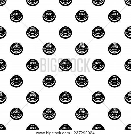 Fast Money Button Pattern Vector Seamless Repeating For Any Web Design