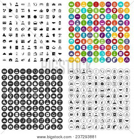 100 Coherence Icons Set Vector In 4 Variant For Any Web Design Isolated On White