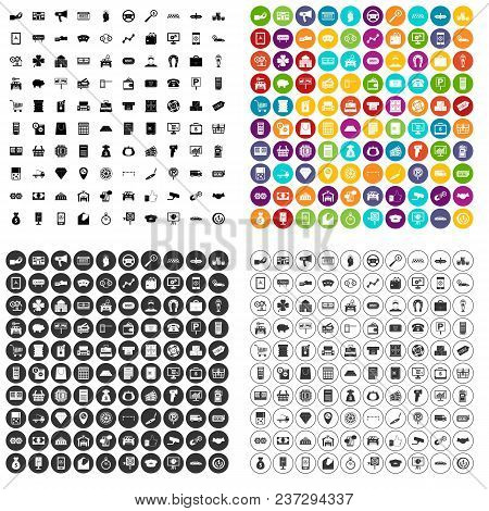 100 Coin Icons Set Vector In 4 Variant For Any Web Design Isolated On White