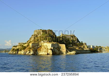 Corfu Town, Corfu, Greece - October 01, 2017 : The Old Venetian Fortress A Venetian Fortress In The