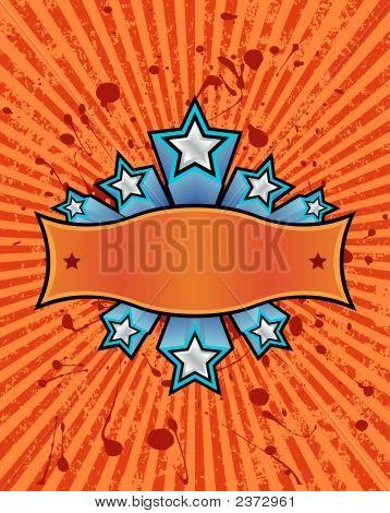 Star Banner - Orange.Eps