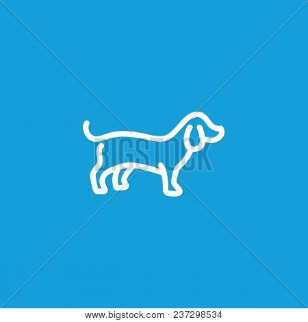 Icon Of Badger Dog. Pet, Animal, Puppy. Animal Care Concept. Can Be Used For Topics Like Veterinary,