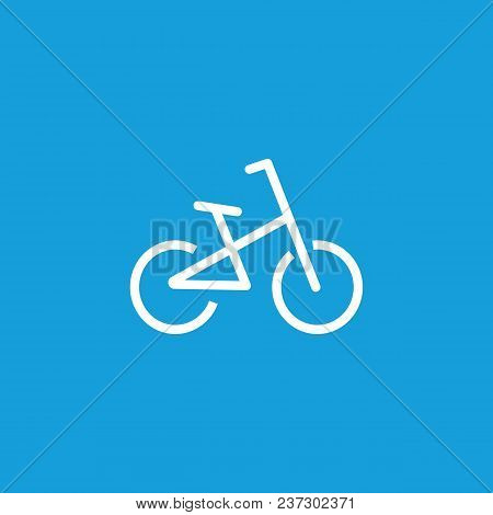 Line Icon Of Bicycle. Cycling Sport, Bicycle Trail, Bicycle Parking Sign. Transport Concept. Can Be