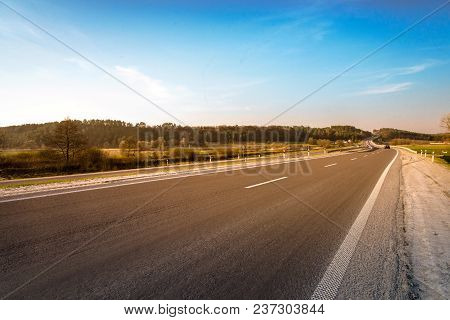 Empty Asphalt Road
